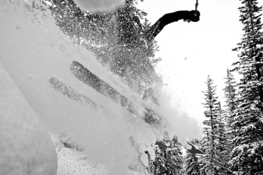 Reed Betz skiing the unemployment chutes in Crested Butte, CO.