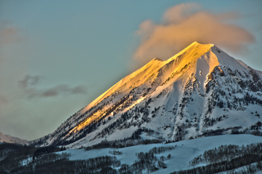 Alpenglow on Mount Gothic Crested Butte Colorado.